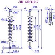 Линейный подвесной стержневой полимерный изолятор ЛК-120/110-VII фото