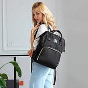 Сумка-рюкзак для мамы (Mummy Bag)/ черный фото