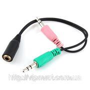 Аудио адаптер для гарнитуры 3,5 мм для VoIP аналог NOKIA AD-77 фото