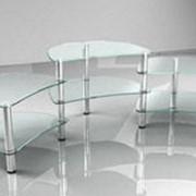 Стеклянная тумба под ТВ «001/1 шесть стекол» фото