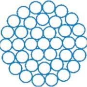 Канат стальной одинарный свивки типа ТК конструкция 1x37(1+6+12+18)Д, для растяжек опор, линий электропередач, ГОСТ 3064, DIN 3054, DIN EN 12385-4, пр-во Стальканат-Силур, Украина фото