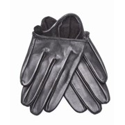 Кожаные перчатки для авто (короткие), черные фото