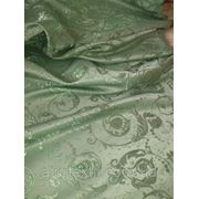 Штора темно зеленая фото