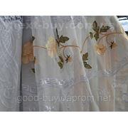 Тюль Кристалон с цветком 1018 С -1 фото