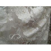 Тюль Молочная роза - органза с тканью 100210-ЛА -1 фото