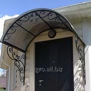 Козырек входной крыша поликарбонат фото