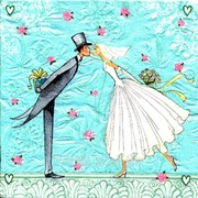 Салфетка для декупажа Жених и невеста фото