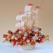"""Корабль из конфет """"Фрегат"""" фото"""