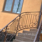 Лестница уличная с элементами ковки №6 фото