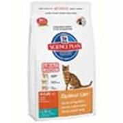 Корм для котов Hill's Science Plan Optimal Care для кошек для поддержания оптимального веса с тунцом 2 кг фото