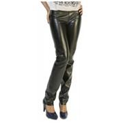 Брюки женские кожаные по доступной цене в Украине - Женские кожаные штаны P.Vorte Leather Studio - Country leather pants (кантри) фото