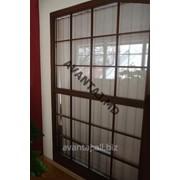 Окно из красного дерева, арт. 26 фото