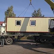 Монтаж строительных бытовок и других мобильных зданий фото