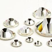"""Стразы """"Swarowski"""" для дизайна ногтей (30 шт) белые фото"""