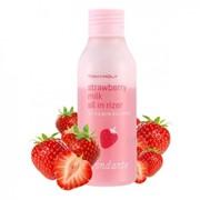 Двухфазное увлажняющее молочко для лица Tony Moly Strawberry Milk All In Rizer фото