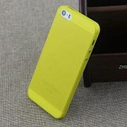 Чехол накладка iHug 0,35мм для iPhone 5С желтая фото