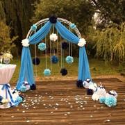 Оформление свадьбы в голубом цвете фото
