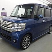 Микровэн турбо HONDA N BOX кузов JF1 класса минивэн модификация Custom G Turbo 2014 пробег 24 т.км темно-синий фото