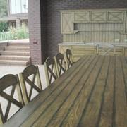 Мебель садовая и парковая Садовая мебель из дерева под заказ фото