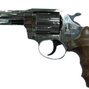 Револьвер ALFA 440, никелированный, деревянная рукоятка фото