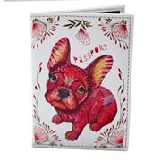 Обложка для паспорта из кожзама Пёс
