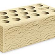 Кирпич керамический облицовочный (лицевой) пустотелый Пшеничное лето Риф 1,4 NF фото
