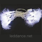 "Светодиодная Гирлянда ""DELUX FIBER"" белая, красная 30 LED, 7,3 м фото"