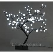 Светодиодные деревья «СНЕЖНЫЕ ШАРИКИ» 60см, белые фото
