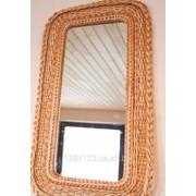 Плетеное зеркало из лозы Квадратное