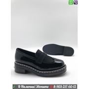Туфли CHANEL Шанель черные фото