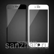 Защитное стекло для Apple iPhone 6 Белое\Черное 87107 фото