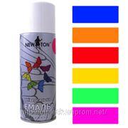 Краска флуоресцентная аэрозольная NewTon для любых поверхностей фото