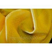 Шелк - жаккард желтый фото