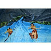 Плательно - блузочная ткань гаваи ночь фото