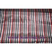 Узбекская ткань бекасаб серый-красный фото