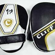 Лапа боксерская изогнутая серо-черная CliFF ULI-3042 фото