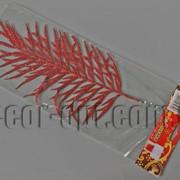 Лист красный с блеском 28/38 см 4324 фото