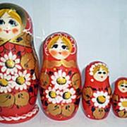 Хохлома Матрешка 5 кукол Ромашки 10128 фото