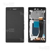 Матрица и тачскрин (сенсорное стекло) в сборе для смартфона Sony Xperia Z C6602, фиолетовый фото