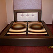 Кровать с мягким изголовьем под заказ фото