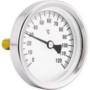 """Термометр PF 868.43 d63мм, 0..120С, 3/8"""" аксиальный, с погружной гильзой 43мм /50/ фото"""