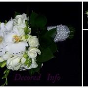 Свадебный букет невесты в минске на естественных стеблях фото