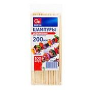 Шампур д/шашл. деревянный 200мм по 100 шт. 400-101 /100/ фото