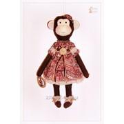 Обезьянка Люси. Текстильная игрушка Тильда. Сувенир ручной работы. фото
