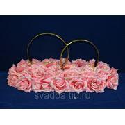 """Кольца литые """"Розы"""" на средней поляне роз/зол. фото"""