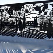 Заборы и ограждения из металла декоративные фото