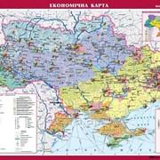 Україна. Економічна карта, м-б 11 000 000 (на планках) фото