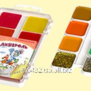 Краски акварельные Сказочный мир в пластиковой коробке с добавлением дополнительных цветов золото + серебро 111159 фото