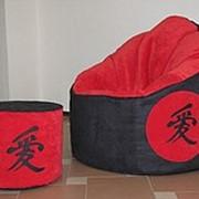 Кресло-пуф и пуфик в японском стиле фото