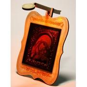 Сувенир голографический с подсветкой настольный Икона Божьей Матери с младенцем фото